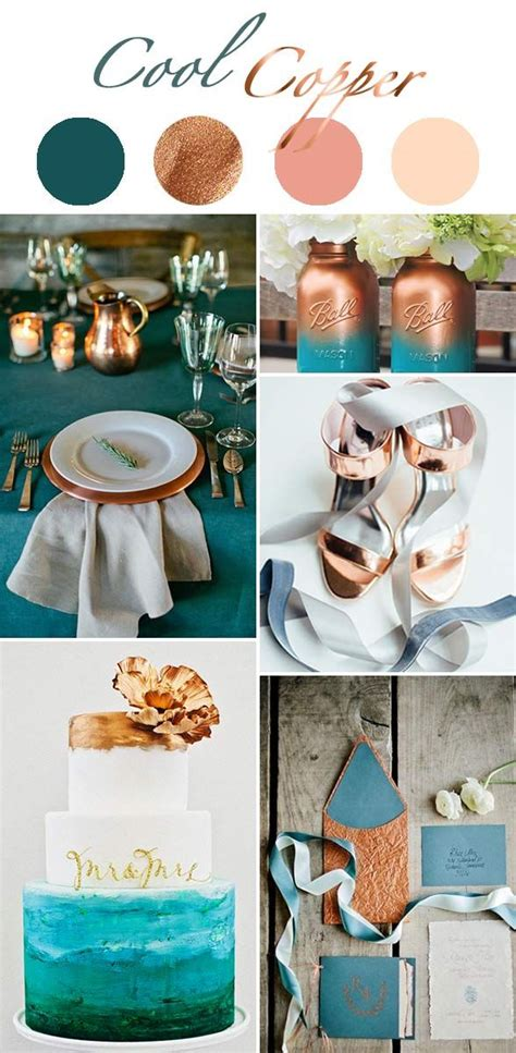 17 best ideas about copper color on blue colour palette teal and blush color palette
