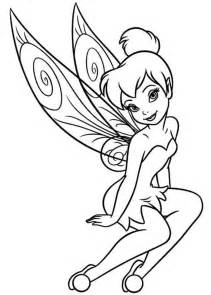 tinkerbell coloring page and print free tinkerbell coloring pages