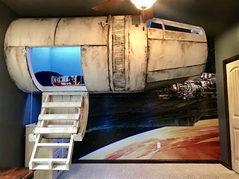 millenium falcon bed the ultimate millennium falcon bedroom global geek news