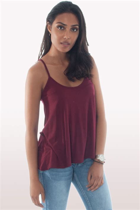 cami swing top wine cami top clothing tops fashion modamore
