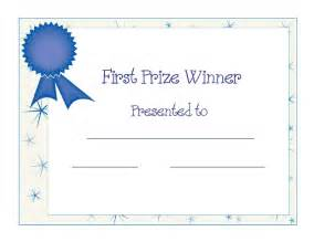 1st Prize Ribbon Template by Winner Certificate Template Helloalive