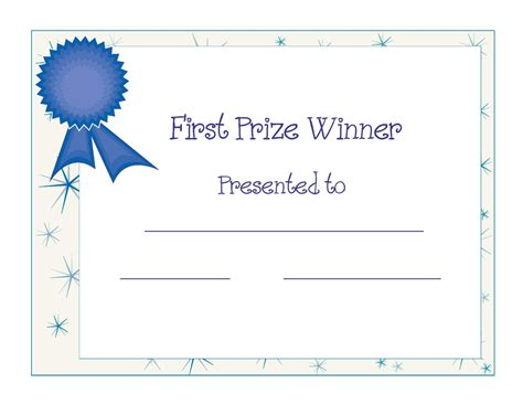 first place award template school theme certificate