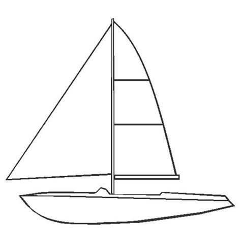 simple boat template simple boat coloring pages