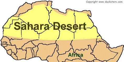 africa map deserts where is the desert on a map my