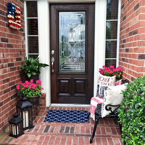 how to decorate a small front porch angela east