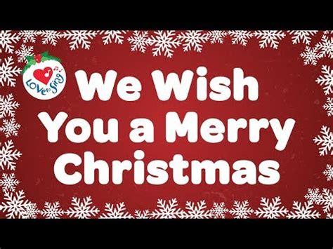merry christmas  lyrics christmas carol song kids love  sing youtube
