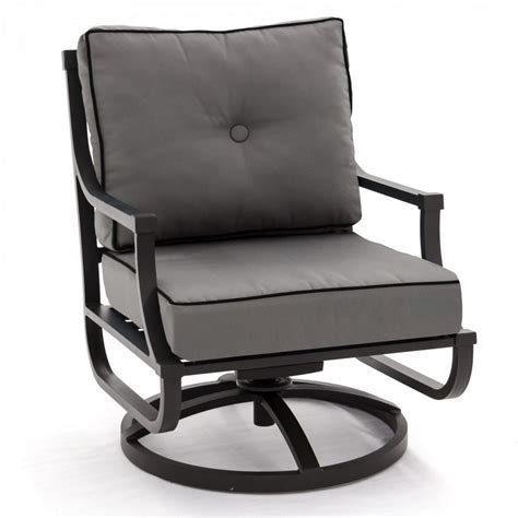 Used Patio Chair Swivel Rocker by Audubon Aluminum Swivel Rocker Patio Club Chair By