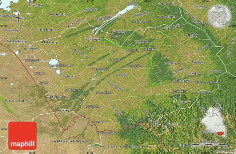 russia map satellite satellite map of altai krai