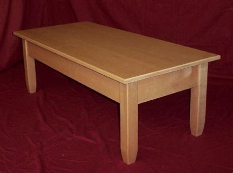 solid maple coffee table canary cabinets
