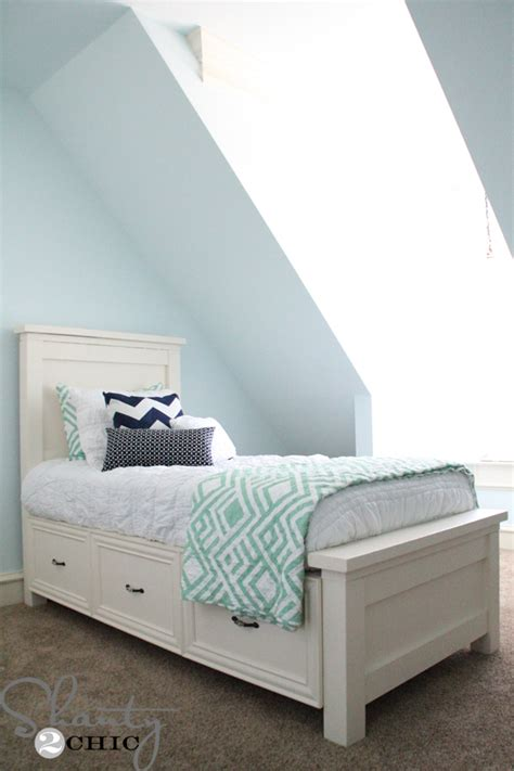 diy storage beds diy twin storage bed shanty 2 chic