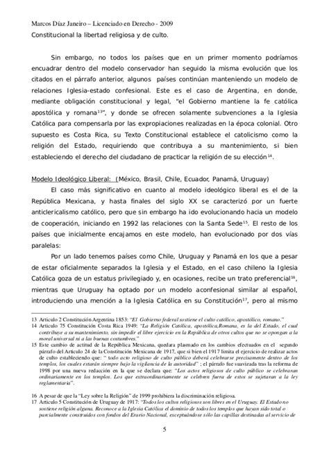 sobre la libertad spanish 1546724710 derecho a la libertad religiosa y relaciones iglesia estado en latino