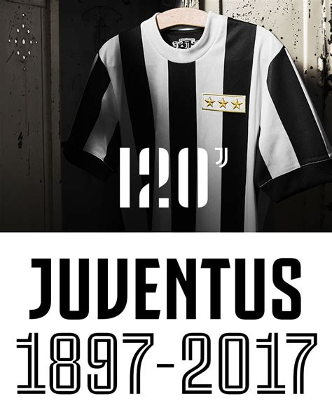 Jersey Juventus Home Retro Juve Anniversary 120th 2017 2018 Grade Ori juventus 120 anniversary jersey juventus official store