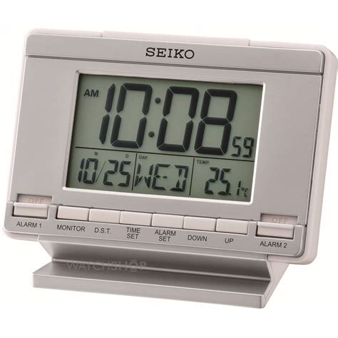 desk alarm clock seiko clocks lcd alarm desk alarm clock qhl061s watch