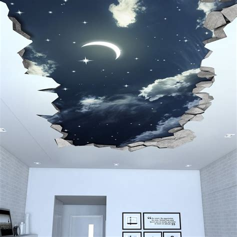 night sky  effect ceiling decal  wall decals