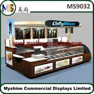 Furniture And Home Decor Stores mall food kiosk design indoor for sale with back wall