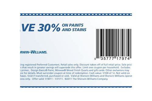 free coupons sherwin williams