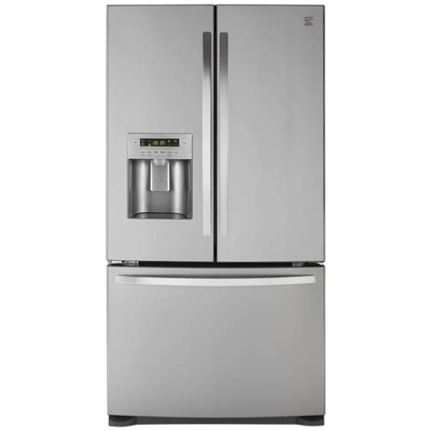 Bottom Freezer Drawer Refrigerator by Kenmore 73053 26 8 Cu Ft Door Bottom Freezer Refrigerator Stainless Steel