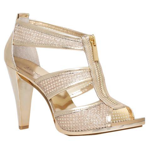 michael kors high heels michael michael kors berkley zip front high heel sandals
