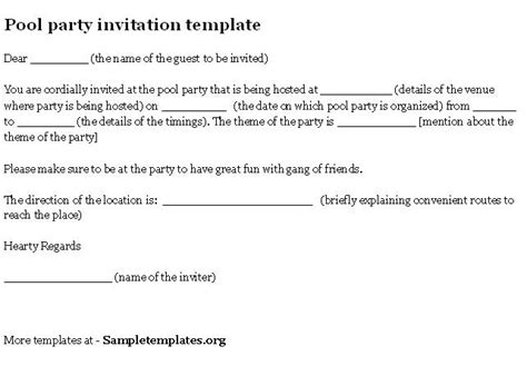invitation letter sample format template example