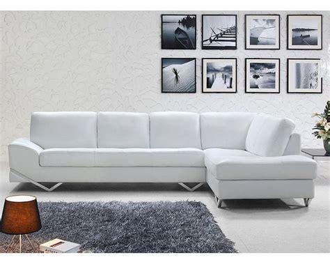 modern sofa sets modern white or latte leather sectional sofa set 44l6064
