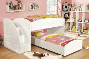 Twin loft bunk beds stairs drawers kids steps traditional bunk beds