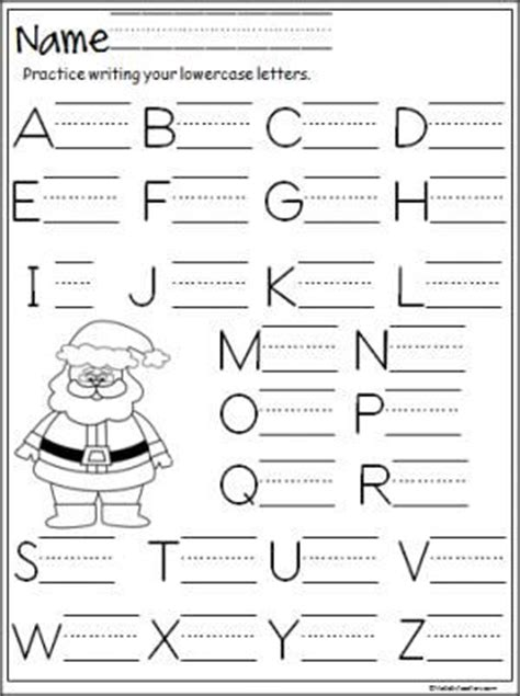 free preschool christmas writing worksheet free santa capital letter writing practice page terrific