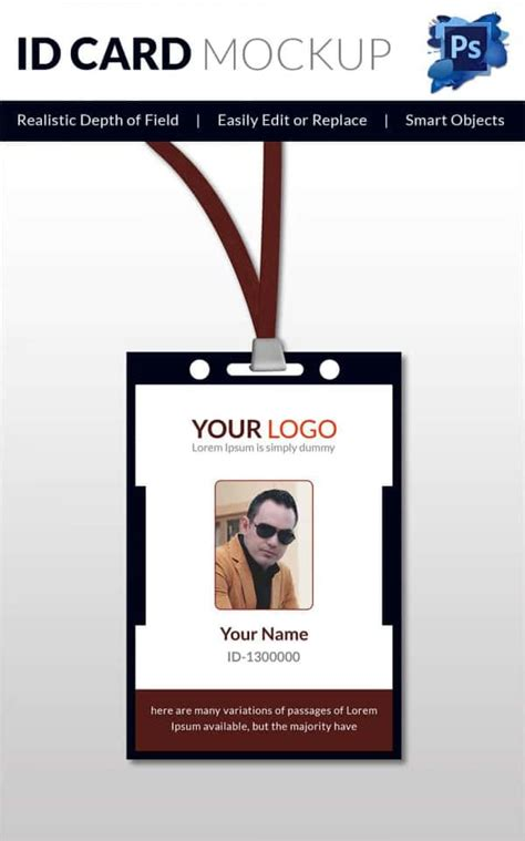 free id card template 30 blank id card templates free word psd eps formats