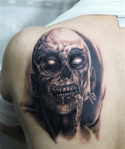 tattoo zombie pictures free tattoo designs hardcore zombie tattoo on the back