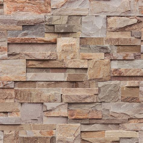 stone brick muriva bluff slate stone block brick effect wallpaper