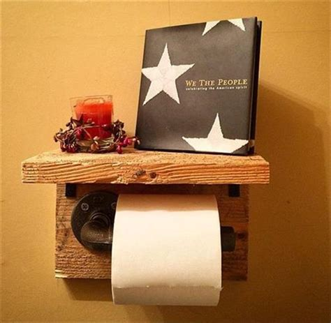 Toilet Paper Holder Ideas by Diy Pallet Toilet Paper Holder With Shelves Recycled