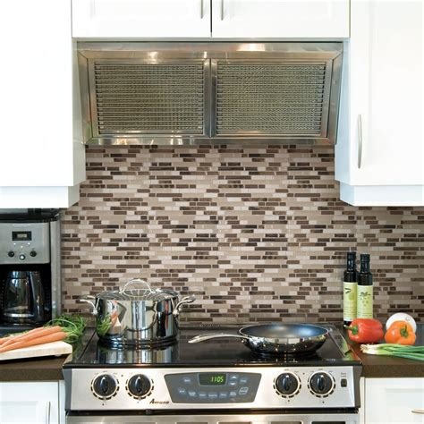 self stick kitchen backsplash tiles smart tiles bellagio bello 10 06 in w x 10 00 in h peel and stick self adhesive decorative