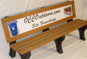 bus stop bench advertising advertising park bench 6 foot recycled plastic ad bench