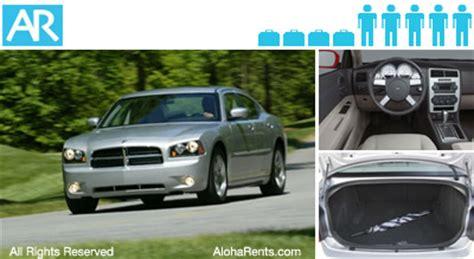Luxurious Interior Dodge Charger Hawaii Rental Cars