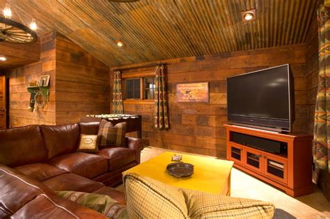 Types Of Room Dividers by Crosswater Ski Lodge Rustic Family Room Portland