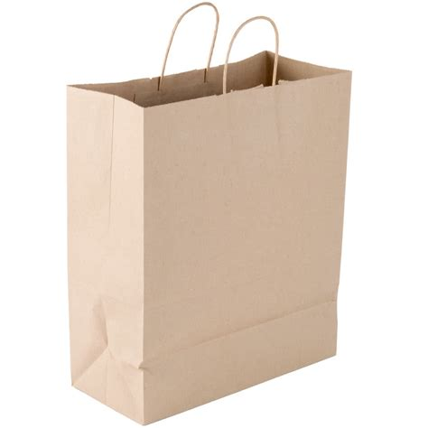 shopping bags duro traveler 13 quot x 6 quot x 15 3 4 quot brown shopping bag with handles 250 bundle