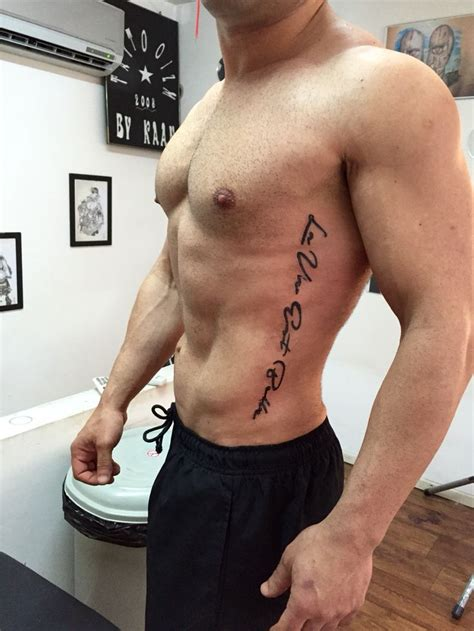 rib tattoos men 14 best script tattoos images on written