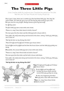 pigs story early teaching resource scholastic