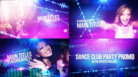 template after effects party dance club party promo videohive after effects template