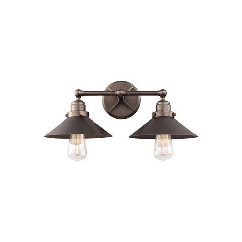 Feiss Hooper 2 Light Antique Bronze Bath Light Vs23402anbz Two Light Pendant Fixture