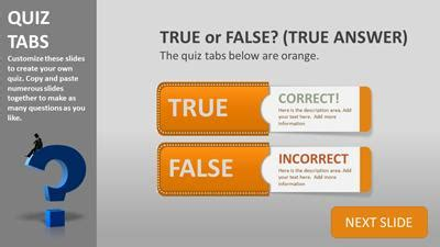 true or false cards template powerpoint templates at presentermedia