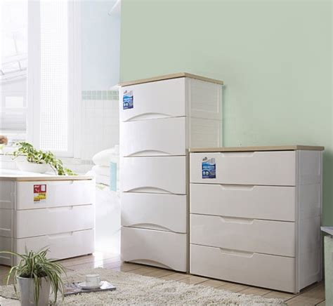 large luxury wooden at home drawer storage cabinet white