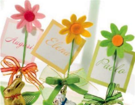 segnaposti con fiori segnaposto per pasqua idee originali e fai da te