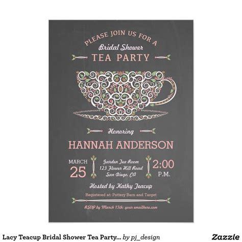 bridal tea invitations uk lacy teacup bridal shower tea invitation i