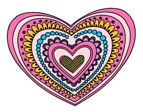 imagenes de mandalas brillantes dibujo de corazones de colores pintado por annsita en