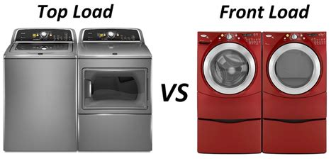 comparing top load vs front load washers
