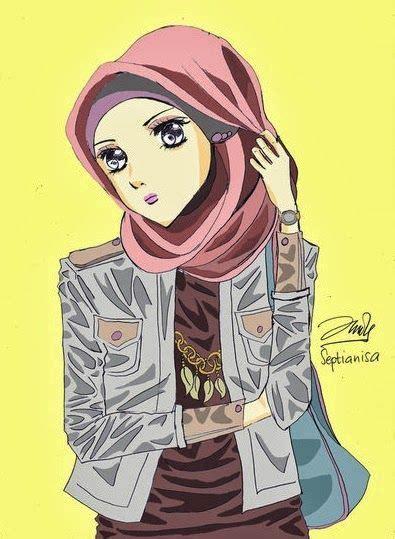 foto hijab kartun gambar kartun cewek cantik berjilbab gambar kartun gadis