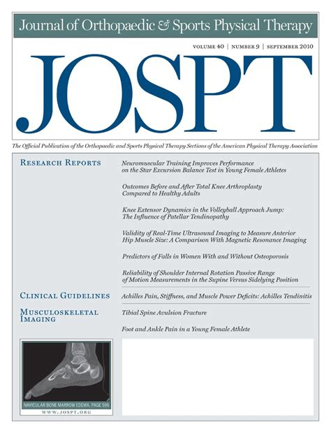 Sports Physical Therapy Section by Journals Ifspt