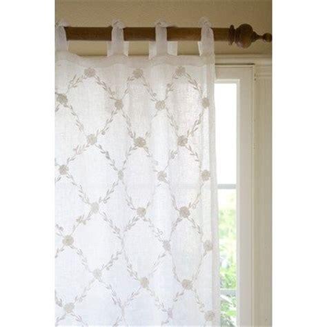 white trellis curtains best trellis linen voile curtain panel color white for