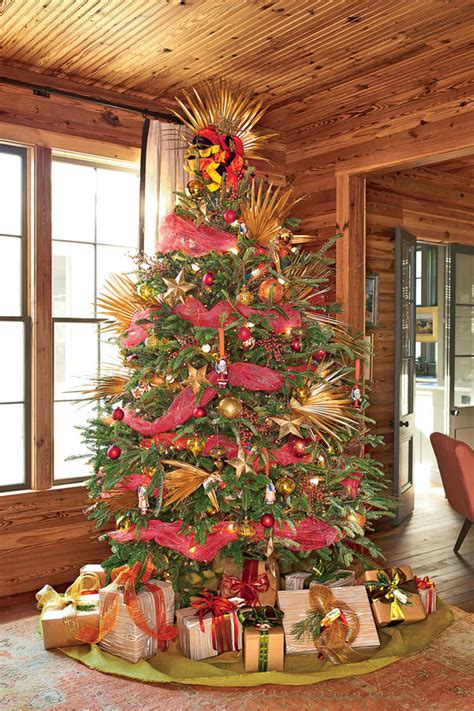Magnolia Black Mesh Sliders tree decorating ideas 2016 69 stunning