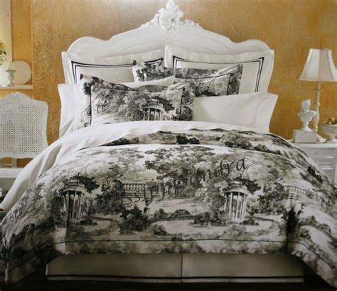 toile comforter set court of versailles black white toile 5pc comforter set